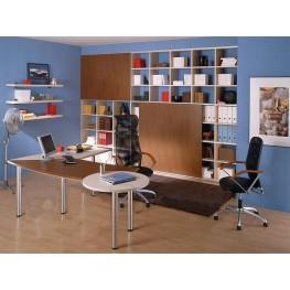 Шкаф-стеллаж и рабочий стол в офис МОш-50 Изготовление офисной мебели Львов, Киев, Чернигов, Винница, Ивано-Франковск Украина