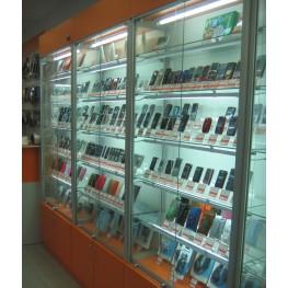 Торговое оборудование для мобильных телефонов алюминиевый профиль МТА-40