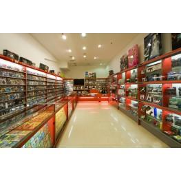 Прилавки и стеллажи в магазин музыки и фильмов МТП-47