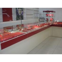 Витрины и прилавки для ювелирного магазина МТД-39