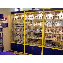 Витрины алюминиевые для мобильных телефонов и компьютерных аксессуаров МТА-51