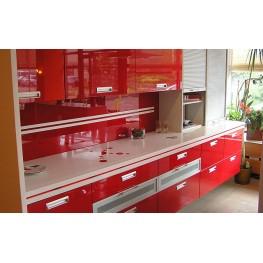 Кухня с крашеными фасадами столешница искусственный камень МДК-69 Изготовление индивидуальных кухонь в Киеве и по всей Украине