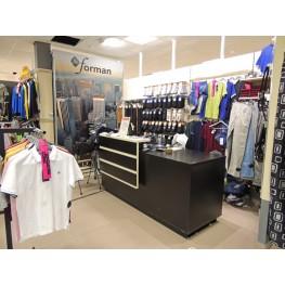 Экономпанели и стеллажи в магазине одежды в Украине, в Киеве