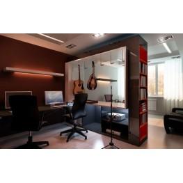 Кабинет в спальне: зона отдыха и работы