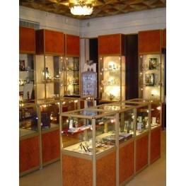 Торговое оборудование из алюминия МТА-48 Мебель на заказ для ювелирного отдела в Киеве и по всей Украине