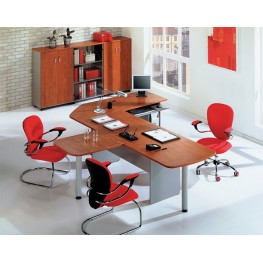 Стол офисный для руководителя МОС-22 Офисная мебель на заказ в Киеве