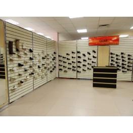 Экономпанели для обувного магазина МИЭ-43 Мебель из экономпанелей на заказ Киев и Киевская область, Бровары, Вишневое, Ирпень и Фастов.