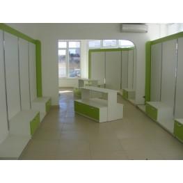 Торговое оборудование в магазин МТД-33 Мебель с регулируемым пристенным торговым профилем
