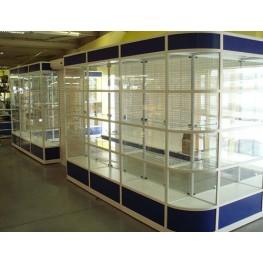 Торговые витрины из алюминия МТА-47 Торговая мебель на заказ