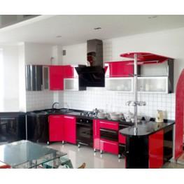 Кухня из МДФ крашеного с радиусными фасадами МДК-67 Кухни на заказ в Киеве