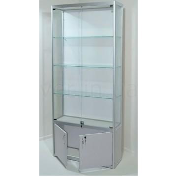 Витрины из алюминиевого профиля, стеклянные витрины из профиля