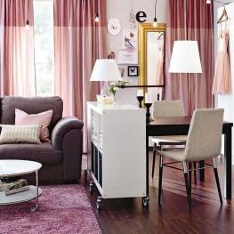 Мебель в гостиную для зонирования пространства