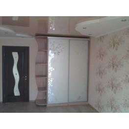 Шкаф-купе, в, спальню, купе, фасады, зеркальные, пескоструй, мебель на заказ в Киеве